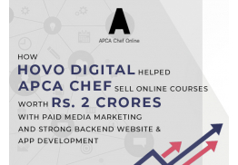 How HOVO Digital helped APCA chef sell online courses worth Rs. 2 crores with paid medi amarketing and strong backend website & App development