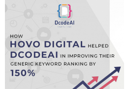 How HOVO Digital helped DcodeAI in improving their generic keyword ranking by 150%