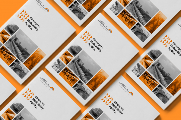 Combining the colours grey and orange, we designed the brochure for 'Mobility' vertical giving it a contrast and striking appearance. As all the verticals come under one parent company, we maintained the synergy between all the brochures.