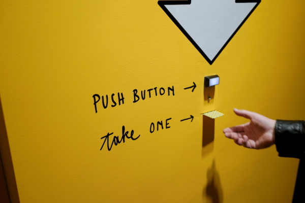 This was more of a daily activity to create an engagement with the mascot, 'Smart Ninja'. Here employees would voluntarily push the button 'to get a motivational and positive message from Smart Ninja'. Some messages would also contain free food items that they could redeem in the office's canteen.