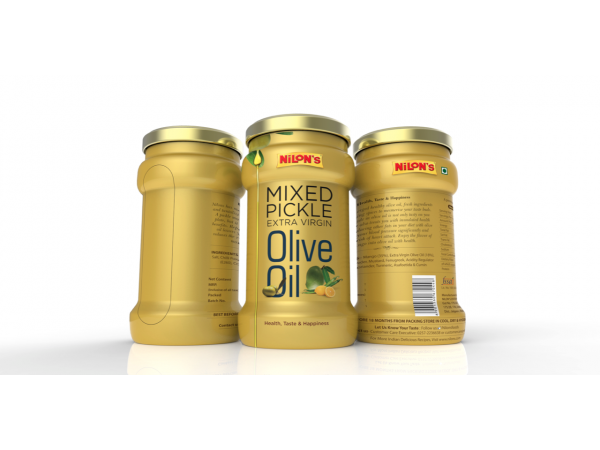 Packaging design (graphics) for Nilon's Pasta, Olive Oil, & Curry Paste