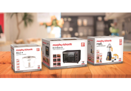 Packaging design (graphics) for Morphy Richards's India range of products